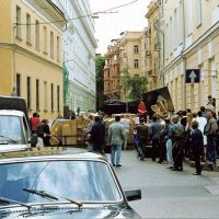 action-happening «Barricade on Bolshaya Nikitskaya Street» - 1998 г.